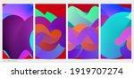3d fluid wavy shape. bright...   Shutterstock .eps vector #1919707274