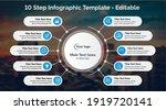 10 steps infographics design...   Shutterstock .eps vector #1919720141