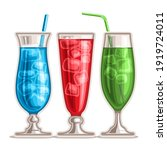 set of colorful cocktails  3... | Shutterstock . vector #1919724011