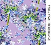agapanthus seamless pattern | Shutterstock . vector #191974511