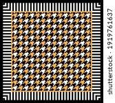 Goose Foot Pattern. Vector...