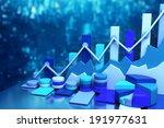 business chart background | Shutterstock . vector #191977631
