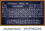 periodic table of elements on... | Shutterstock .eps vector #1919782244