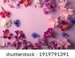Peonies  Alstroemeria  On Pink...