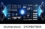 fingerprint scan provides... | Shutterstock . vector #1919807804
