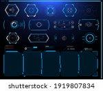 futuristic hud interface screen ... | Shutterstock . vector #1919807834