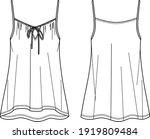 vector summer tank top fashion... | Shutterstock .eps vector #1919809484