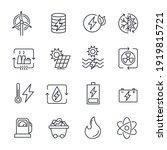 set of energy types icon.... | Shutterstock .eps vector #1919815721