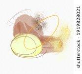 abstract watercolor golden... | Shutterstock .eps vector #1919828021