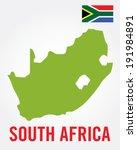 south african map set   vector | Shutterstock .eps vector #191984891