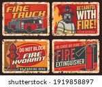 Fire Safety Warning Sign  Rusty ...
