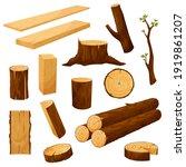 tree stump  timber materials... | Shutterstock .eps vector #1919861207