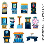 game machines vector icons ... | Shutterstock .eps vector #1919861774