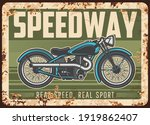 Speedway Rusty Metal Plate With ...