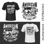 Tshirt Print With American Fire ...