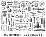 machine parts vector icons... | Shutterstock .eps vector #1919863151