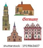 germany landmarks architecture...   Shutterstock .eps vector #1919863607