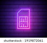sim card neon style icon....