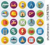 set of construction icons in... | Shutterstock .eps vector #191987864