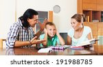 parents scolds teenage son for... | Shutterstock . vector #191988785