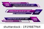 set futuristic lower thirds set ... | Shutterstock .eps vector #1919887964