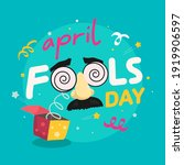 april fools day text and funny...   Shutterstock .eps vector #1919906597