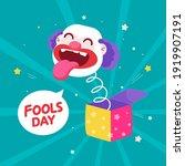 clown vector flat illustration  ...   Shutterstock .eps vector #1919907191