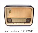 ivory and brown vintage radio | Shutterstock . vector #19199185