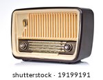ivory and brown vintage radio ... | Shutterstock . vector #19199191