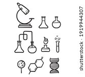 hand drawn chemistry lab and... | Shutterstock .eps vector #1919944307