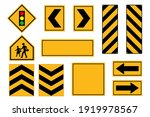 set of road signs  traffic... | Shutterstock .eps vector #1919978567