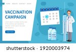 vaccination campaign. template... | Shutterstock .eps vector #1920003974