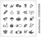 vegetable icons set | Shutterstock .eps vector #192001004
