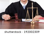 midsection of male judge with