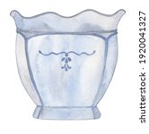 Blue Porcelain Vase With...