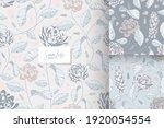 hand drawn vintage pastel color ... | Shutterstock .eps vector #1920054554