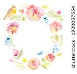 watercolor floral background... | Shutterstock . vector #1920057554