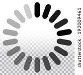 preloader  segmented circle...