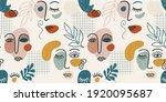 contemporary portrait. vector... | Shutterstock .eps vector #1920095687