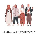 group of modern muslim woman... | Shutterstock .eps vector #1920099257