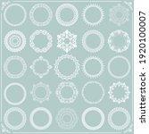 vintage set of vector round... | Shutterstock .eps vector #1920100007
