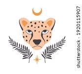esoteric doodle leopard. flat... | Shutterstock .eps vector #1920115907