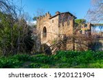 medieval bridge in rome the...   Shutterstock . vector #1920121904