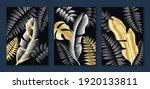 luxury gold wallpaper.  black... | Shutterstock .eps vector #1920133811