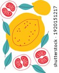 fruits vector set. abstract... | Shutterstock .eps vector #1920151217