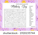 mother's day word search puzzle.... | Shutterstock .eps vector #1920155744