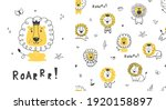 seamless childish pattern with... | Shutterstock .eps vector #1920158897