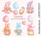 gnome easter with eggs ... | Shutterstock .eps vector #1920170237