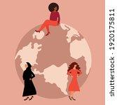 feminist women from various...   Shutterstock .eps vector #1920175811