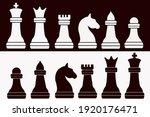 Vector Chess Pieces Silhouette  ...